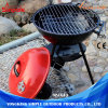 3 Legs Outdoor Charcoal BBQ Grill with Mesh and Red Lid