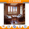China Top Ten Aluminium Factory 65 Series Classical Flat Open Window