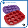 12 Cavity Silicone Muffin Cup Cake Mold