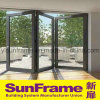 Aluminium Bi-Folding Door in Great Performance for Balcony
