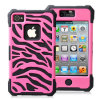 Combo 2 in 1 Zebra Design Mobile Phone Case for iPhone4 4s
