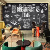 Self Adhesive Sticker Wallpaper Restaurant Wall Murals for Restaurant Photo Wallpaper