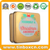 100g/3.5oz Luxury Metal Soap Tin with Golden Printing for Cosmetics