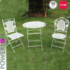 S/3 Metal Bistro Dining Set with Round Table