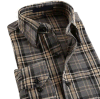Men Cotton Flannel Casual Check Shirt