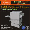 2000 Books/H Saddle Flat Side Corner Stitching Stapling Stapler Binding Machine Booklet Maker