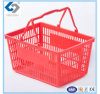 30L Two Handles Shopping Basket with Plastic Material