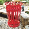 Outdoor High Quality Red Receptacle Bin