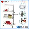 NSF Chrome Metal Bin Wire Storage Cart for Store/Warehouse
