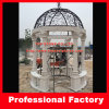 Iron Cover Roman White Marble Gazebo