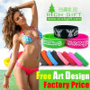 Black/Green Custom Colorful Silicone Wristband Personalized