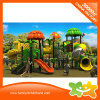 Garden Theme Kids Outdoor Playgroud Curving Tube Slide with Stairs