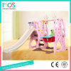 Pink Style Girls′ Favorite Indoor Plastic Slide and Swing Set (HBS17030C)