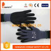 Ddsafety 2017 Grey Nylon Black Nitrile Gloves