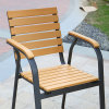 Patio Gaden Home Hotel Office Aluminum Polywood Table and Arm Chair (J805)