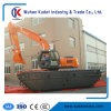 Amphibious Excavator Max. Digging Reach: 8.5 Meters and 2 Chains Pontoon