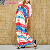 Women Summer Short Sleeve Kaftan Maxi Beach Dress L38487