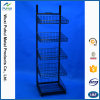 Floor Standing Multi Layer Steel Wire Shelving Display Rack (PHY3029)