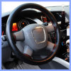 Factory Supply Four Seasons Universal Hand Sewn 100% Genuine Leather Steering Wheel Cover