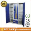 Indian New Design Furniture 3 Door Iron Wardrobe with Mirror