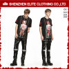 Top Selling Men′s Black Custom Printing T Shirts (ELTMTI-18)