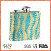 Ws-HP21 Full Bead Sleeve 6oz Metal Hip Flask for Women/Female