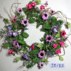 Je182 Spring Colorful Handmade Paper Mum & Wild Flower Wreath Artificial Flowers