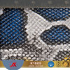 Name Brand China Manufacturer Cheap PVC Material Snakeskin Leather Fabric