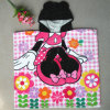 Kids Cotton Reactive Printing Hooded Bath Towel