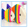 Pet Products Toy Colorful Pet Sisal Fish Shape Scratch Plate Cat Toys