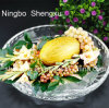 100% Lead-Free Transparent Crystal Glass Fruit Bowl Wedding Bowl Glassware SX-006