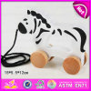 2015 Kids Gift Toys Pull Push Toy Animals for Sale, Cute Animal Wooden Toy Pull Toy, Hot Sale Pull Line Toys for Children W05b083