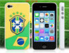 World Cup Brazil Football Team Flag Print Silicone & Plastic Protective Case for Phone (SPC-2134)