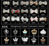 2016 Bow Crown Finger Nails Nail 3D Decoration Nail Stones Rhinestone Jewelry Nail (Bow crown 25-1586)
