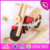 New Design Cool Motorcycle Shape Wooden Baby Rocker Toy W16D110