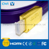 Flat HDMI 19 Pin Plug-Plug Cable for 4K & HDTV with Gold Plug