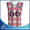Custom Sublimation Men′s 2 Ply Reversible Lacrosse Jersey