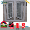 PVC Vinyl Double Glazing Impact Casement Window with Grill Design