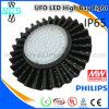 100W UFO LED Highbay Industrial Pendant Light for Warehouse/Workshop