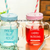 Personalised Mason Jar Drinking Cup for Unique Gift
