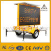 Optraffic Amber Solar Powered Mobile LED Traffic Road Sign Vms