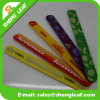 Newest Promotional Cheap Custom Silicone Slap Bracelet