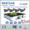 960p CCTV IP IR P2p Plug and Play Poe NVR Kit Security Camera