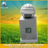 Granite Soccer Design Garbage Stone Trash Can