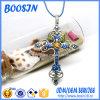 Custom Brand Rhinestone Cross Pendant Necklace for Religious Promotion