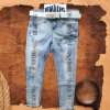 Custom Fashion Design Ladies′ Denim Jean with Seven Socks (HDLJ0007)