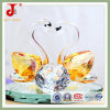 Amber High Quality Crystal Swan (JD-CW-105)