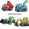 Wholesale Construction Vehicles Paper Puzzle Kids Toy for Promotional