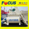 Hot! Js1500 Twin Shaft Concrete Mixer, PLC Control Concrete Mixer