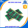Low Density 512mbx8 8 GB DDR3 1600 Notebook RAM